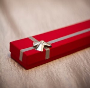 a red box present